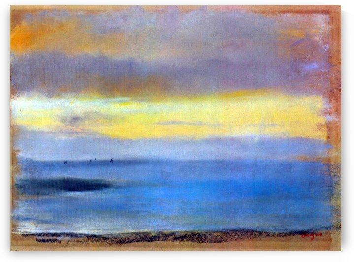 Coastal strip at sunset by Degas by Degas