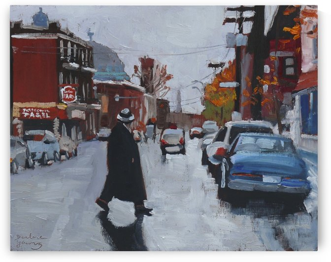 St Viateur Autumn Day by Darlene Young Canadian Artist