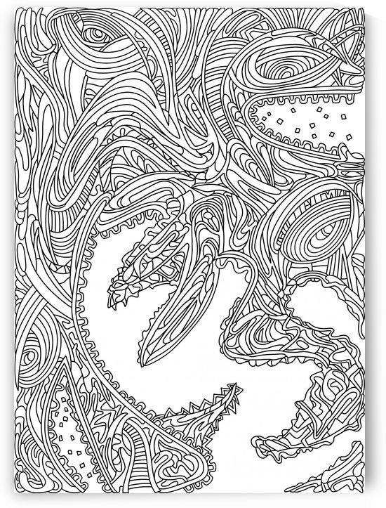 Wandering 17: black & white line art by Dream Ripple