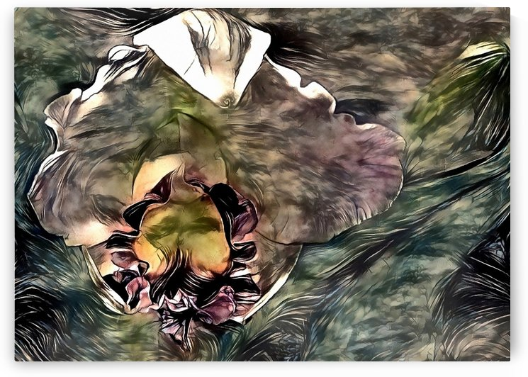 Abstract Iris Flower by Bruce Rolff