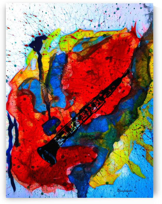 Clarinet - Abstract by Aurelia Schanzenbacher Sisters Fine Arts