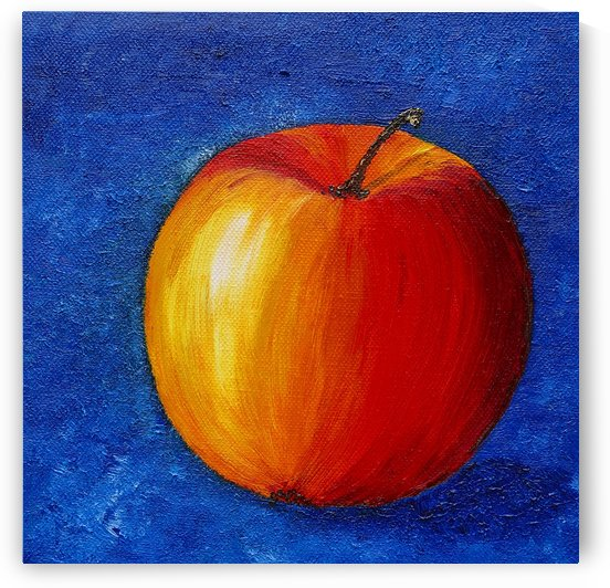 Red Apple - Still Life Painting by Birgit Moldenhauer