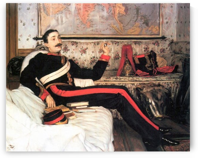 Colonel Frederick Gustavus Burnaby by Tissot by Tissot