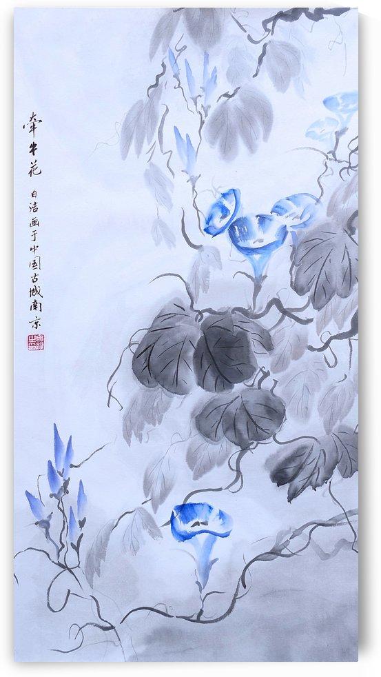 Blue Flower by Birgit Moldenhauer