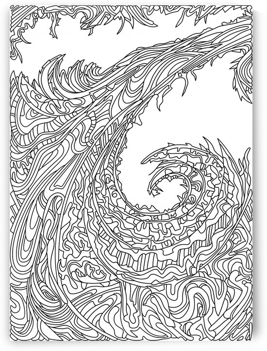 Wandering 23: black & white line art by Dream Ripple