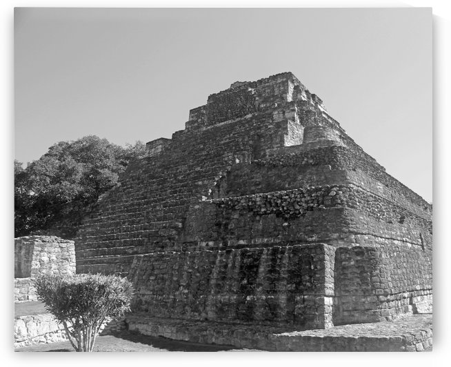 Beauty of Mayan Ruins B&W by Gods Eye Candy
