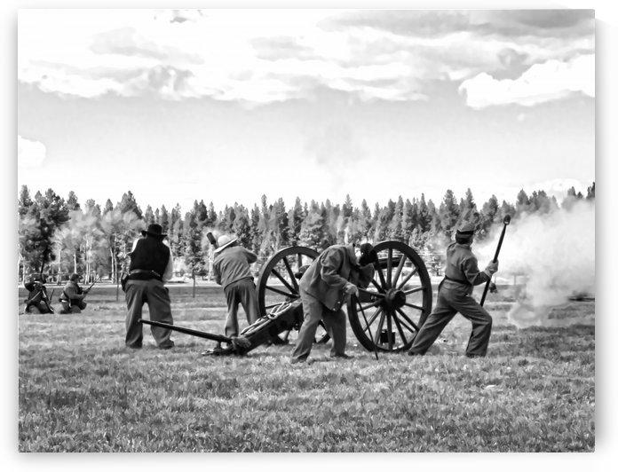 Civil War Re-enactment by Aurelia Schanzenbacher Sisters Fine Arts