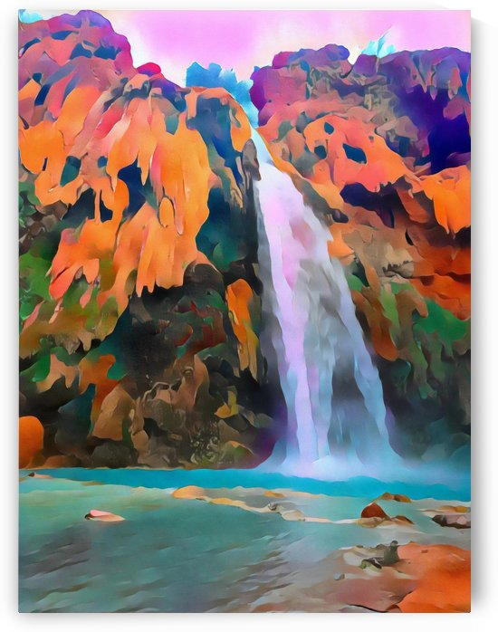 Havasupai Waterfall by Dionyziuz