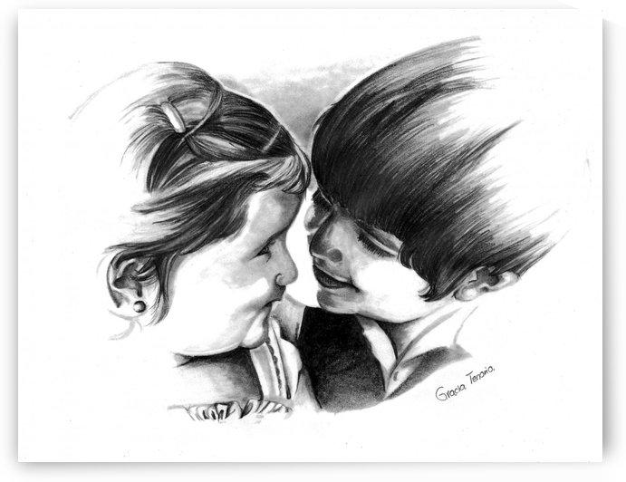 Sister & brother by Gracia Tenorio Art