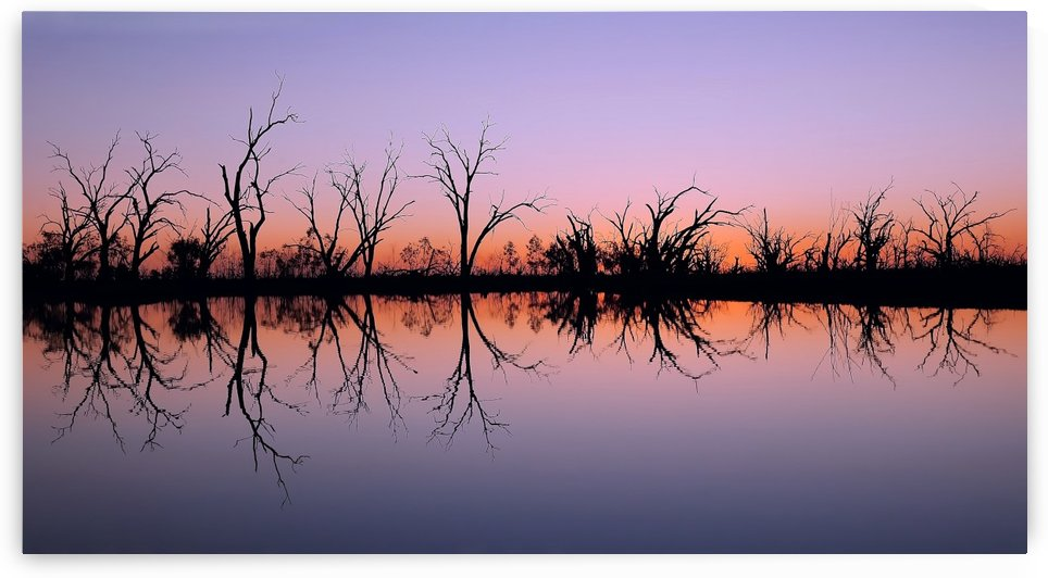 Sun Setting on Pamamaroo Lake by Lexa Harpell
