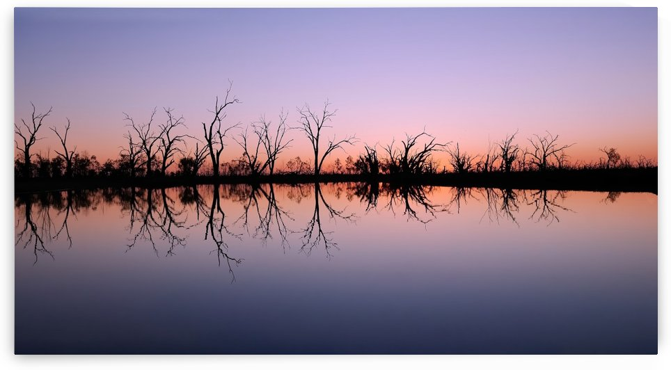 Sunset on Pamamaroo Lake by Lexa Harpell