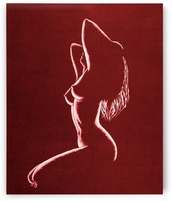 Akt in Red by Birgit Moldenhauer