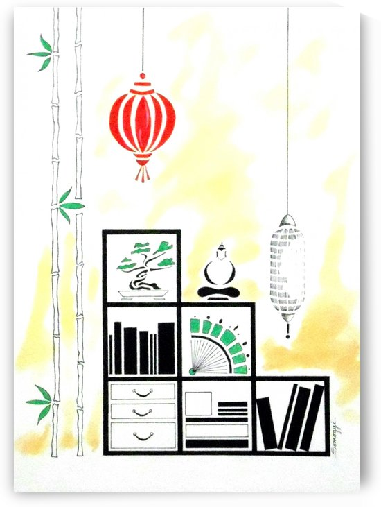 Lamps Books Bamboo by Jayne Somogy