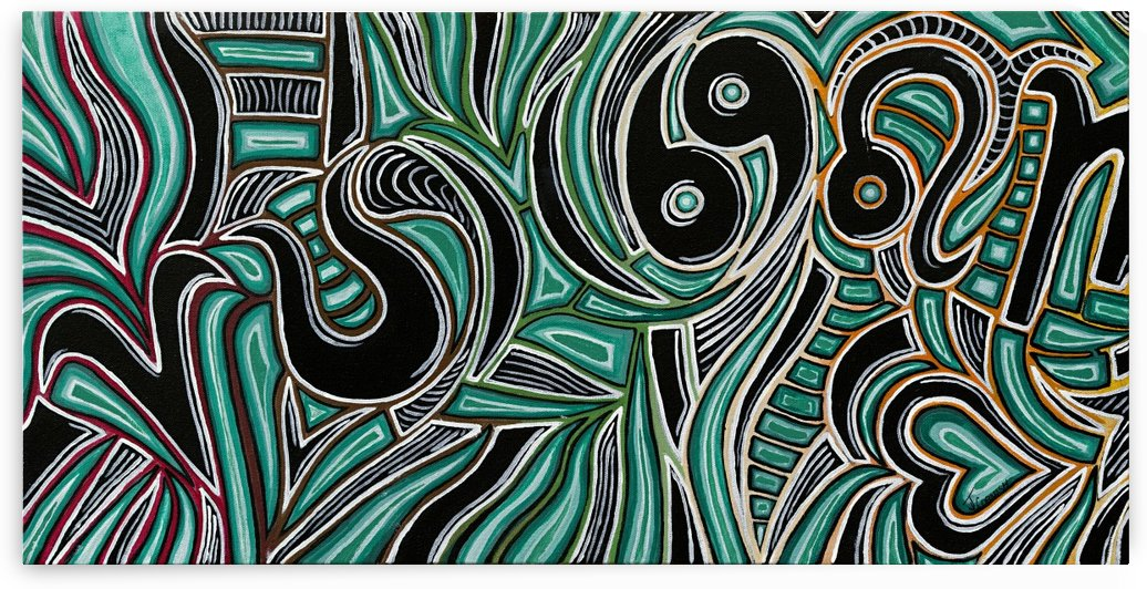 Synergy Triptych Left panel by Janis Cornish