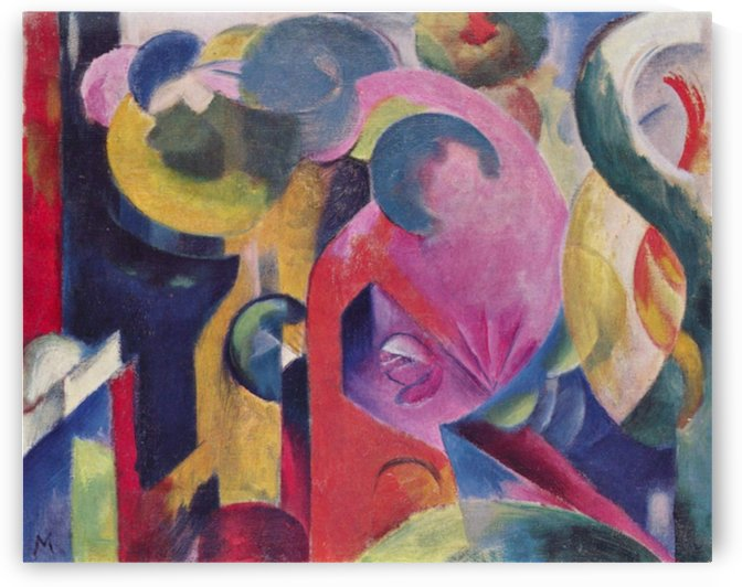 Composition III by Franz Marc by Franz Marc