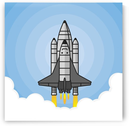 rocket shuttle spaceship science by Shamudy