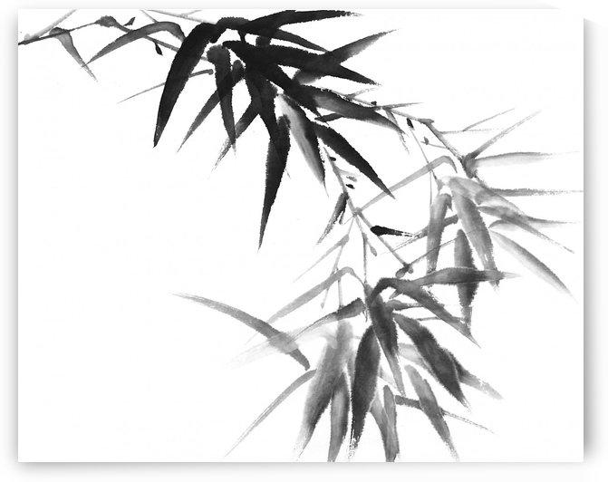 Black Bamboo Twig by Birgit Moldenhauer