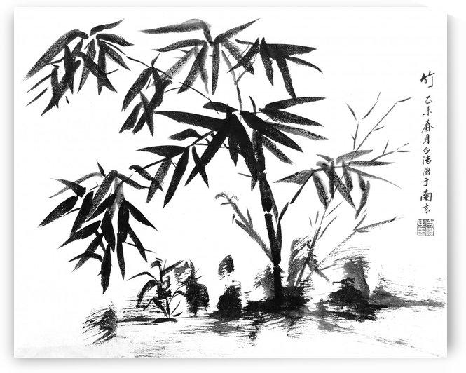 Bamboo in Water by Birgit Moldenhauer