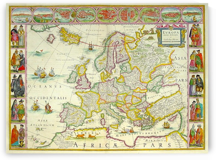 Ancient Europe Map by Culturio