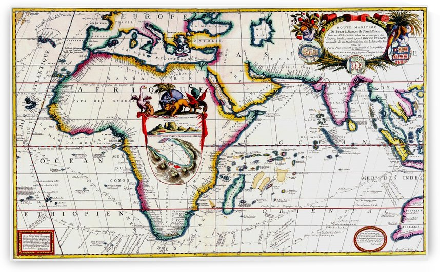 Ancient Africa Map by Culturio