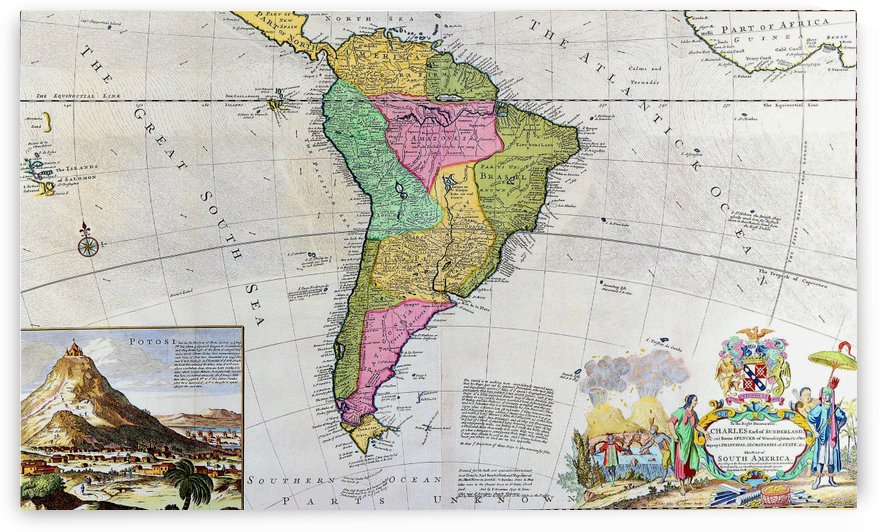 Ancient South America Map by Culturio
