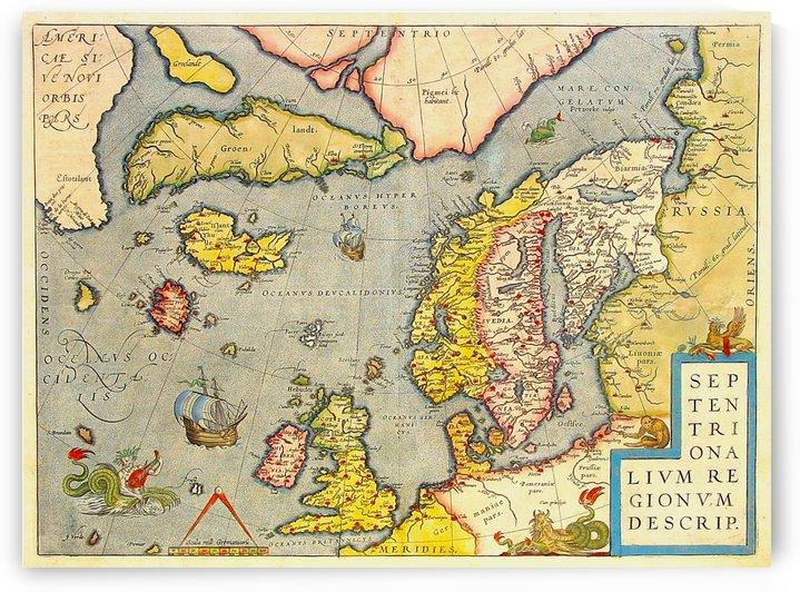 Ancient European Map by Culturio