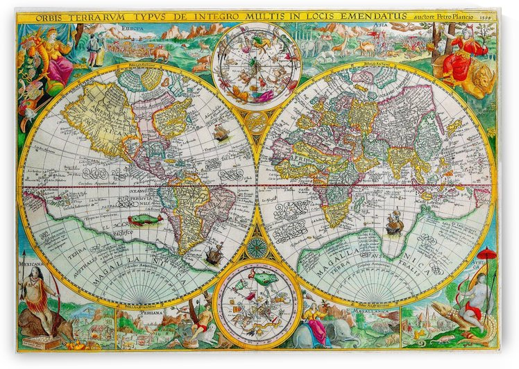 Ancient World Map 6 by Culturio