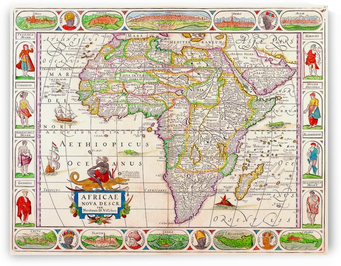 Ancient Africa Map 2 by Culturio