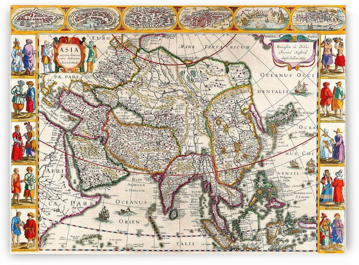 Ancient Asia Map 2 by Culturio