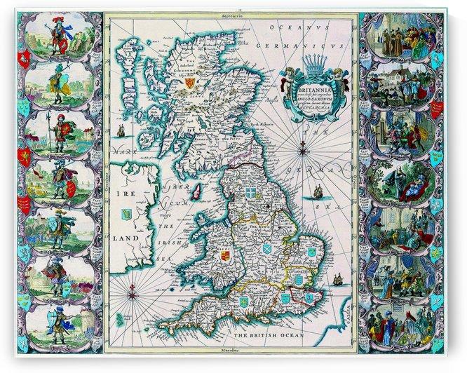 Ancient Britannia Map by Culturio