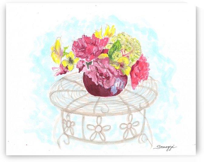 Silk Flowers by Jayne Somogy
