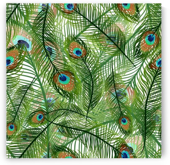 peacock feathers pattern by Shamudy