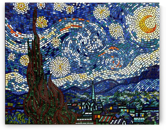 Mosaic art Vincent van Goghs Starry Night by Shamudy