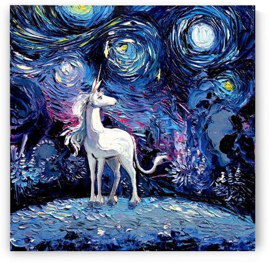Unicorn Starry Night print van Gogh by Shamudy