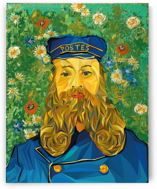 vincent van gogh cartoon beard illustration bearde by Shamudy