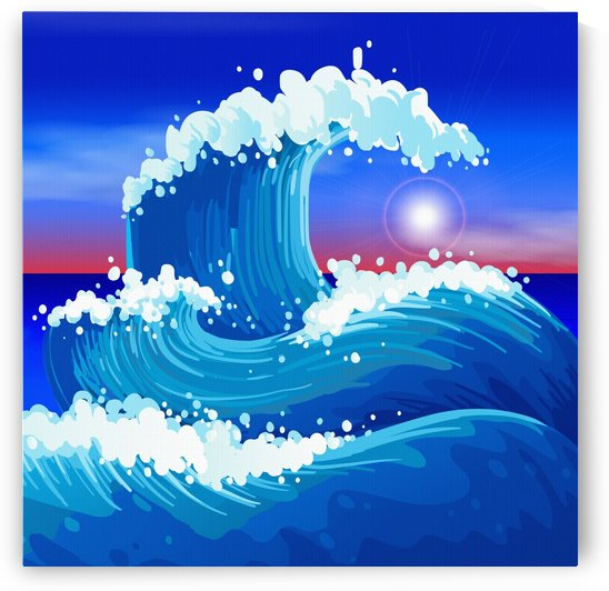 japanese wave japanese ocean waves by Shamudy