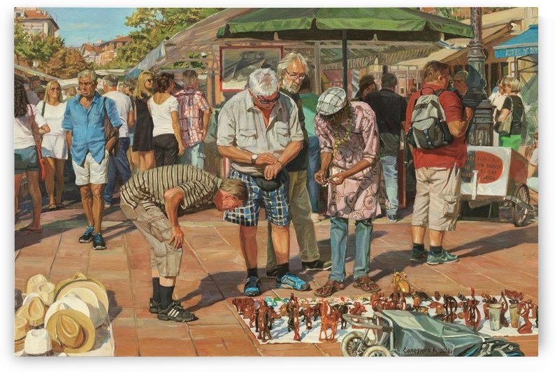 Market_In_Nice by Egalitarian Art Gallery
