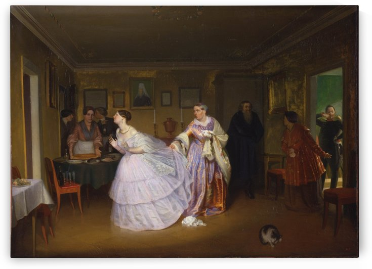 The Major Makes a Proposal (Inspecting a Bride in a Merchant's House) by Pavel Fedotov