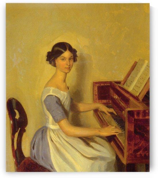 Portrait of Nadezhda Zhdanovich at the Piano by Pavel Fedotov
