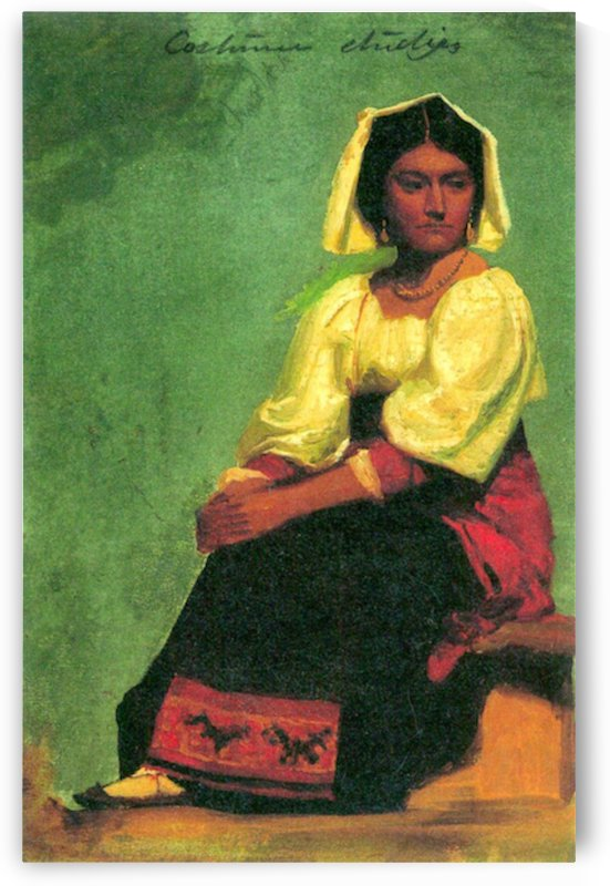 Costume study of a seated woman by Bierstadt by Bierstadt