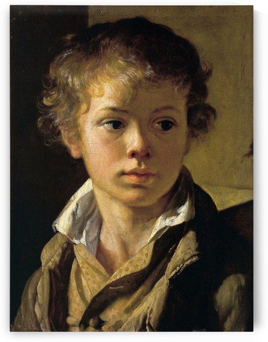 Portrait of Arseny Tropinin, son of the artist by Vasily Tropinin