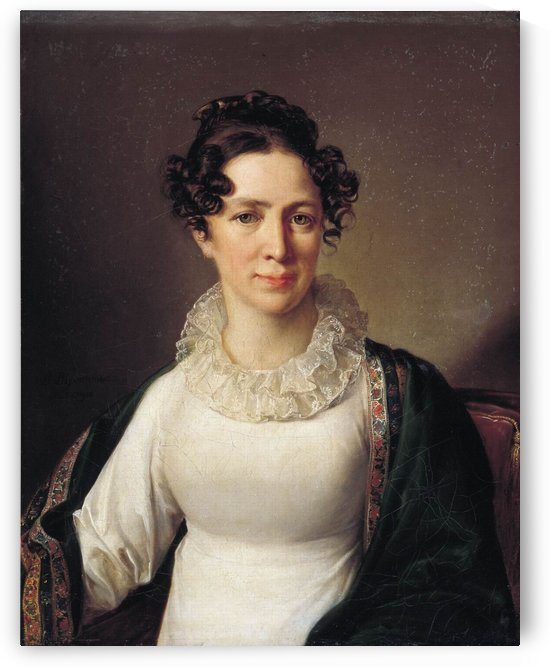 Portrait of a woman with brown eyes by Vasily Tropinin