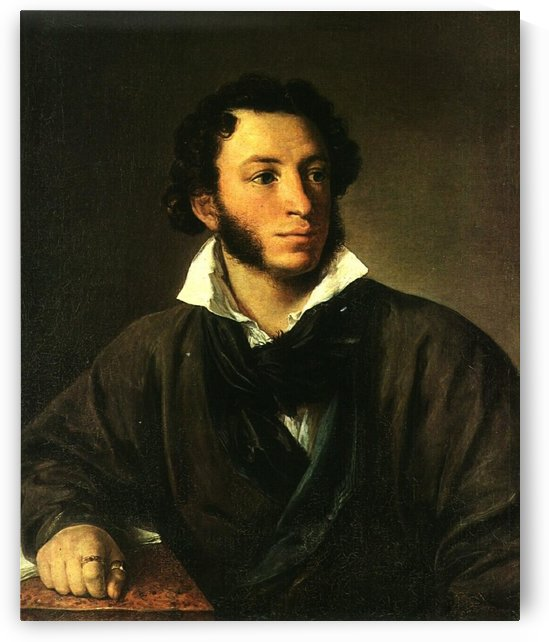 Portrait of Alexander Pushkin by Vasily Tropinin