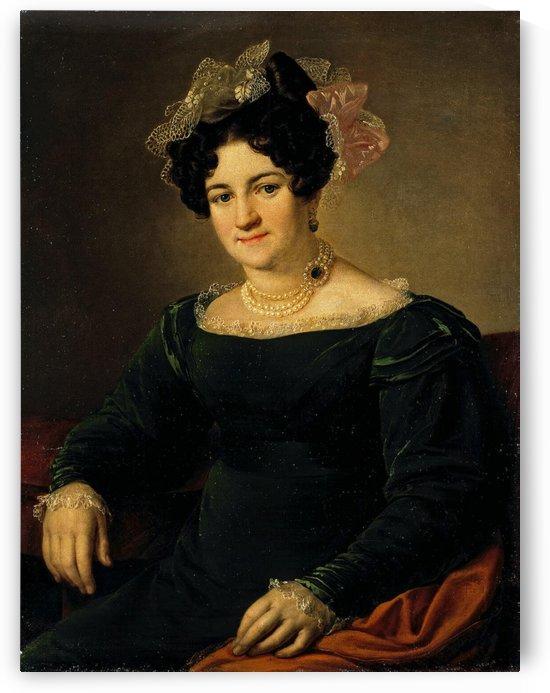 Portrait of P.I. Sapoznikova by Vasily Tropinin