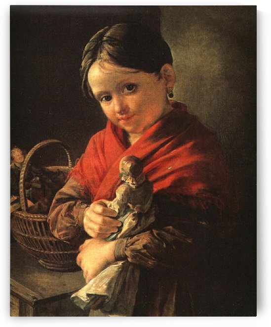 Girl with a Doll by Vasily Tropinin