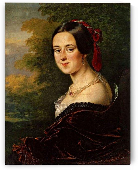 Portrait of a rich lady by Vasily Tropinin