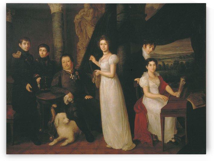 Family portrait of counts Morkovs by Vasily Tropinin