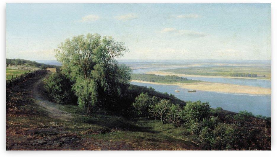 Volga near Simbirsk by Mikhail Clodt