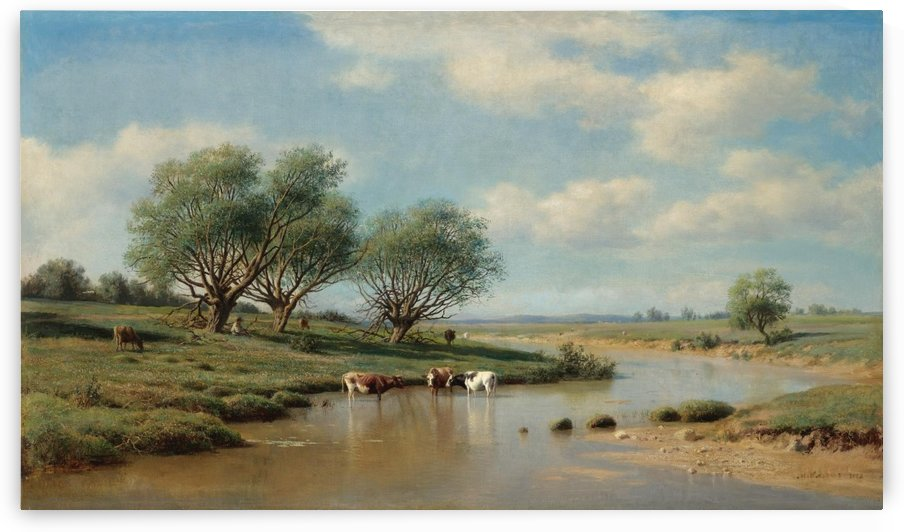 Cattle Watering by Mikhail Clodt