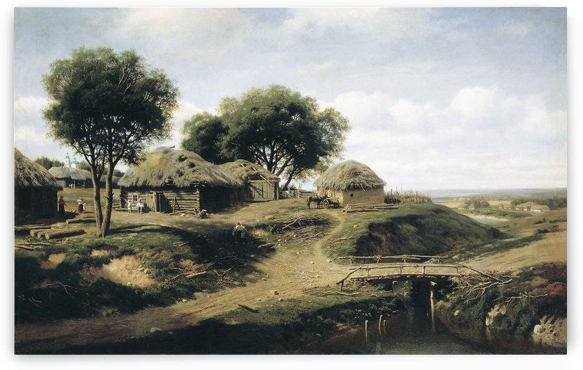 Entering village by Mikhail Clodt